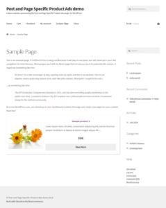 Shortcode - horizontal layout